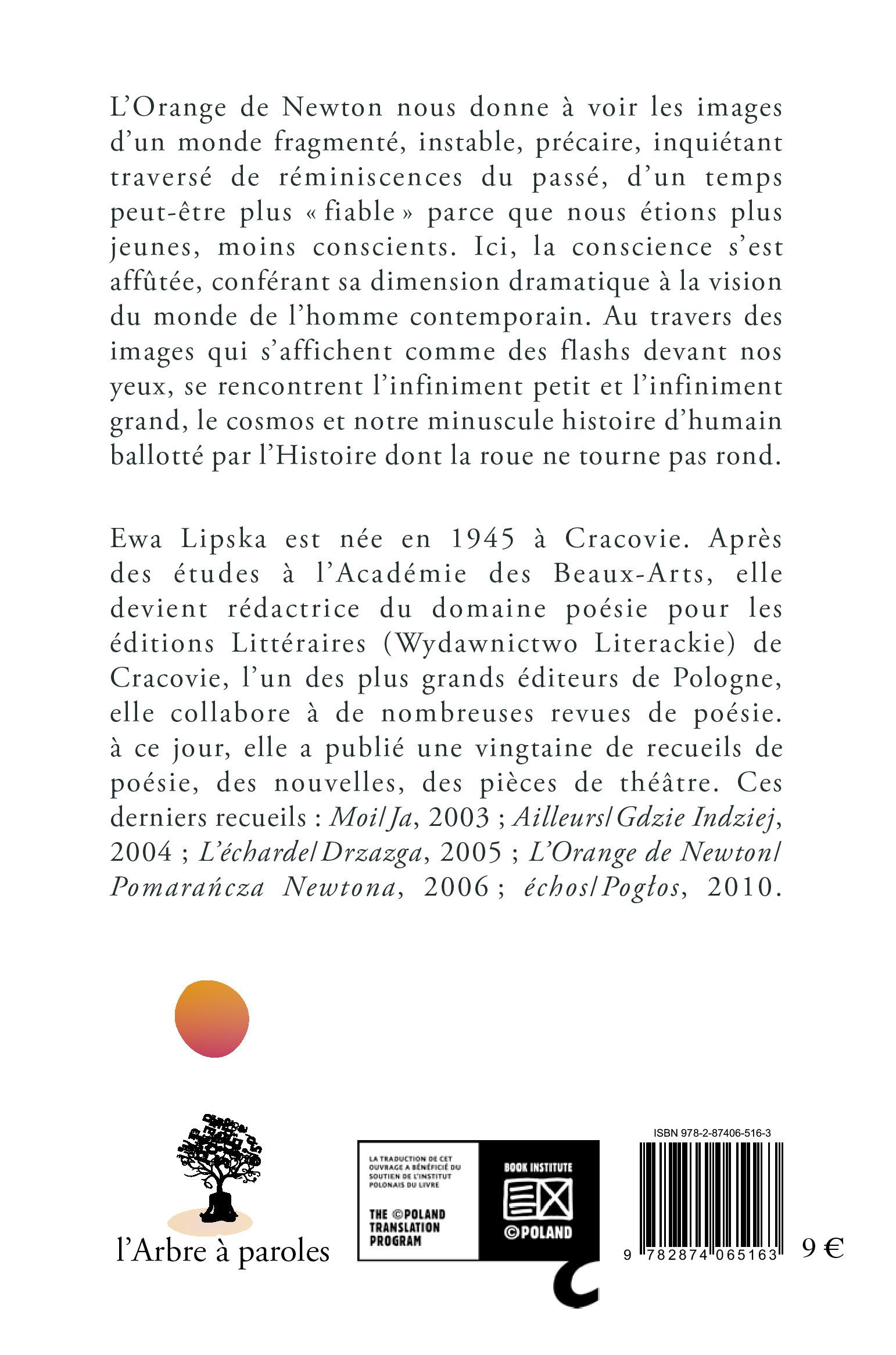 L'orange de Newton Ewa Lipska